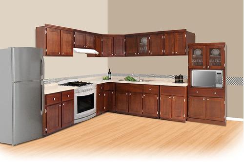 tarja doble fregadero  para cocina integral madera/granito