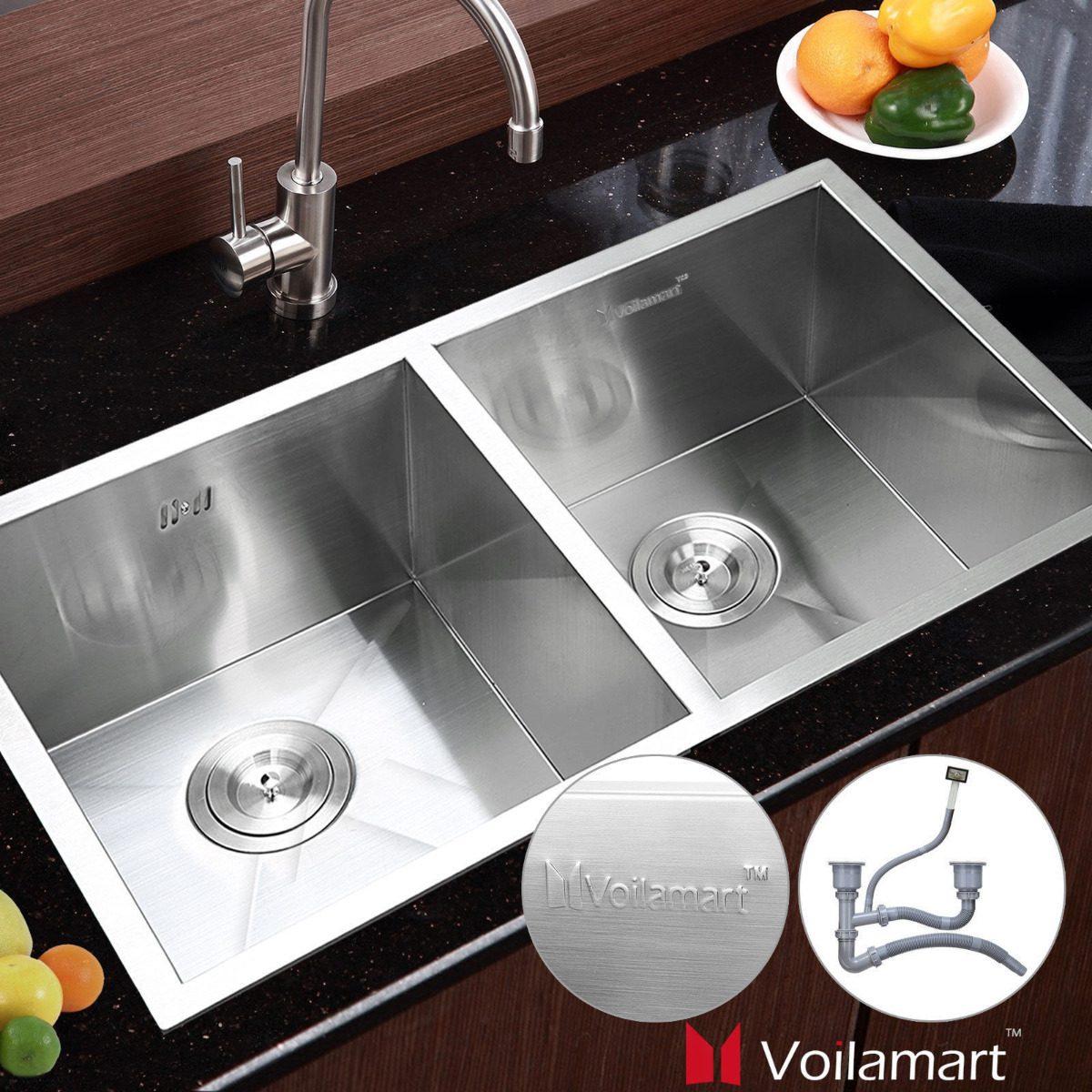 Tarja fregadero de acero inoxidable cocinas modernas - Fregaderos de acero inoxidable ...