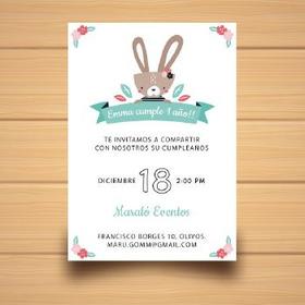 Tarjeta - Invitación 1er Cumpleaños X 10 Uni