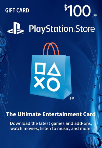 tarjeta 100 playstation network psn usd 100 giftcard usa