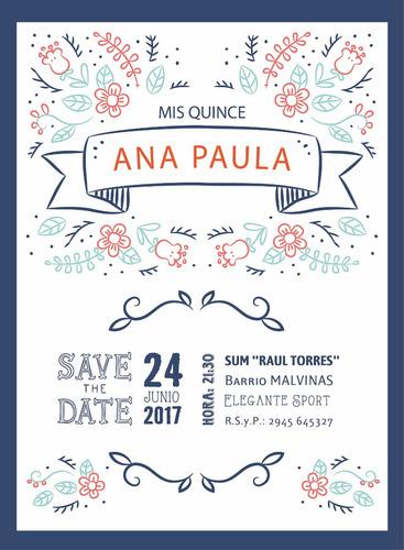 tarjeta 15 años casamiento invitacion participacion vip boda