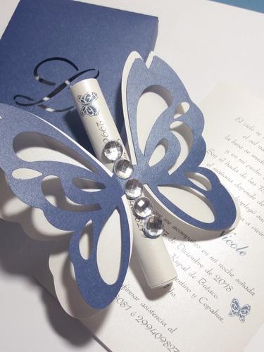 tarjeta 15 años mariposa 3540 x 10 unidades.