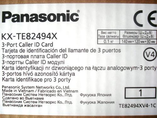 tarjeta 3 lineas identificador llamadas panasonic kx-te82494