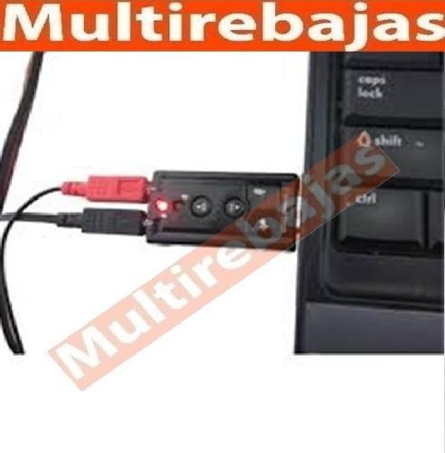 tarjeta adaptador audio sonido usb