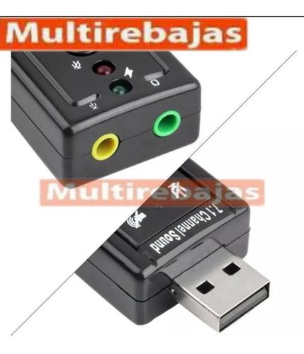 tarjeta adaptador de audio sonido externa usb