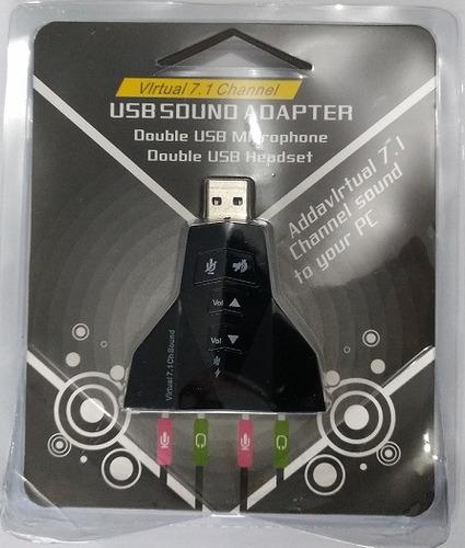 tarjeta adaptador sonido externa 7.1 usb inc iva y garantia