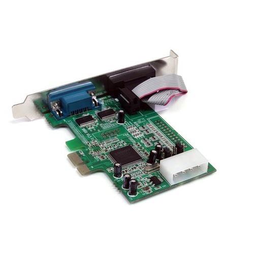 tarjeta adaptadora serial startech.com 2 puertos pci express