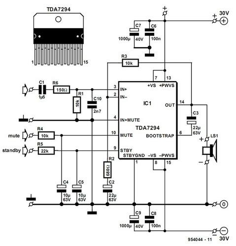 tarjeta amplificadora de 100 wattios de potencia