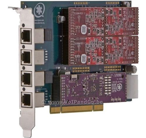 tarjeta asterisk voip tdm400p incluye 1 fxo y 3 fxs digium