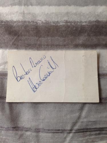 tarjeta autografiada por hugo sánchez márquez