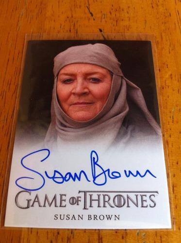 tarjeta autografiada septa mordane game of thrones original