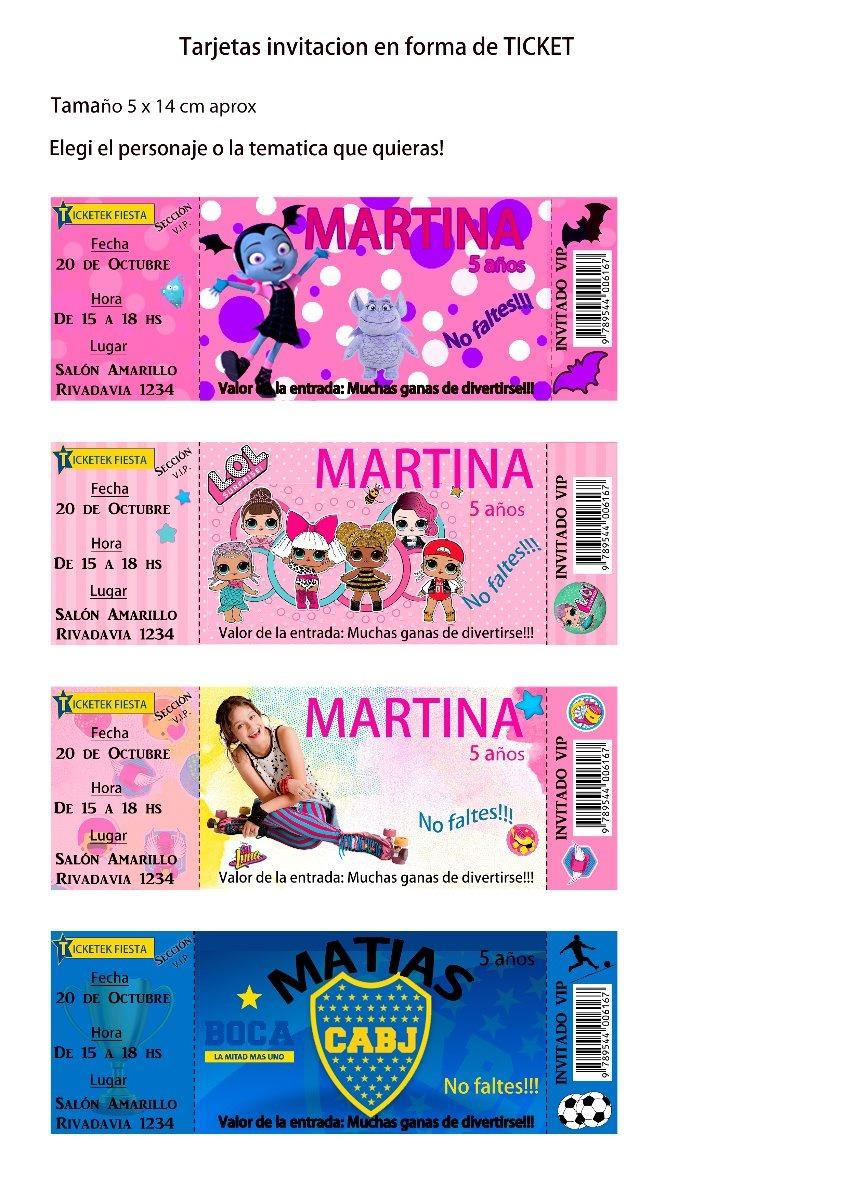 Tarjeta Barbie Ticket Invitacion Para Imprimir