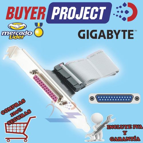 tarjeta cabezal interno gigabyte de puerto paralelo db25