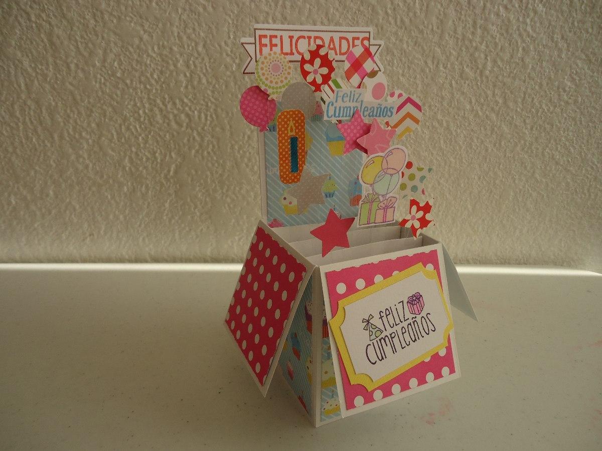 Tarjeta caja sorpresa super original cumplea os amor - Fiestas sorpresas de cumpleanos originales ...