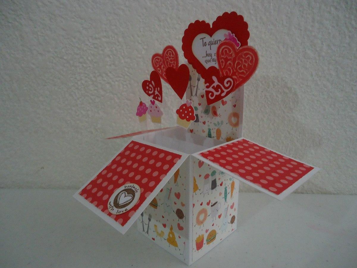 Tarjeta caja sorpresa super original cumplea os amor - Tarjetas originales para cumpleanos ...