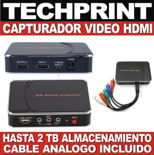c625c0d1f0d74 Tarjeta Capturadora De Video Externa Hdmi Full Hd + Analogo - S  299 .