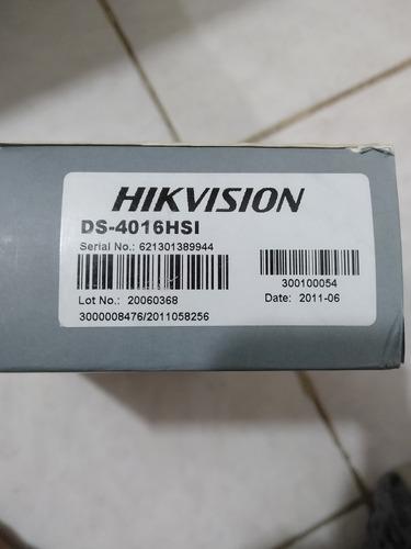 tarjeta capturadora hikvision 16 camaras alta definicion hd