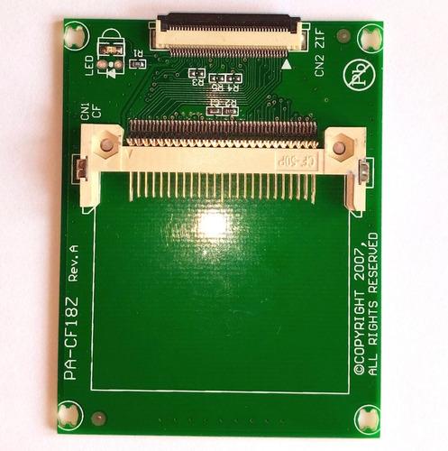 tarjeta cf a 1.8 inch zif adaptador para ipod incluye flex