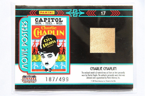 tarjeta city lights charlie chaplin worn patch movie posters