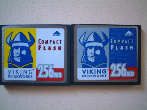 tarjeta compact flash 256 mb.