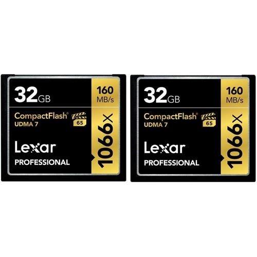 32GB Lexar Profesional 1066x tarjeta CompactFlash UDMA 7