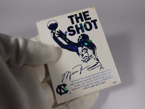 tarjeta con oro 22kt the shot michael jordan 1996 limited ed