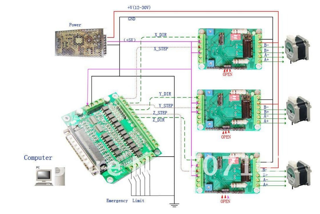 Db25 Breakout Board Wiring Diagram | Wiring Liry on