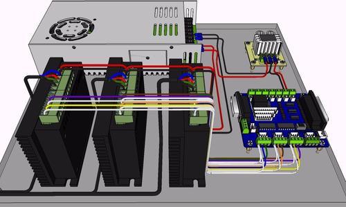 Tarjeta Controladora Cnc Db25 Diversos Drivers Para Mach3