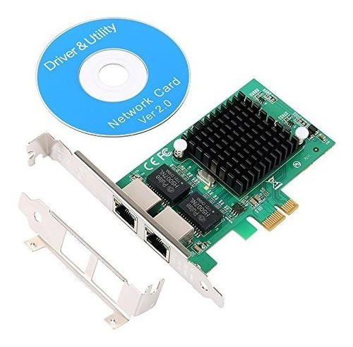 tarjeta controladora de red qnine gigabit ethernet pci expre