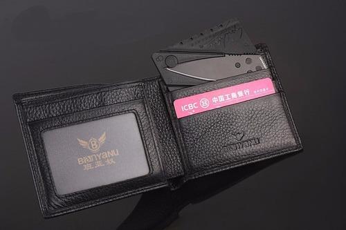 tarjeta cuchilla tactica de defensa y/o emergencia