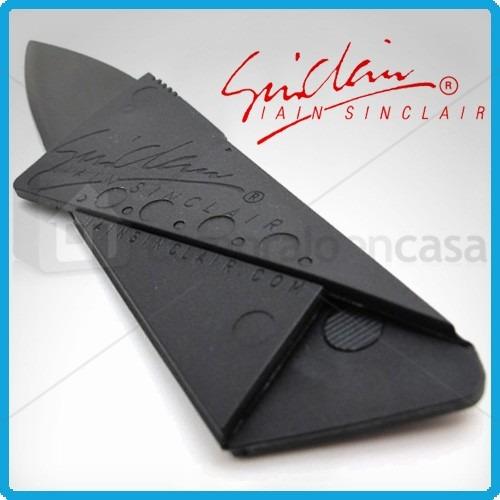 tarjeta cuchillo navaja viajera portátil tipo carnet delgada