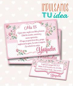 Tarjeta De 15 Para Imprimir Invitación Y Personal Yaquelin