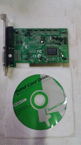 tarjeta de audio pci 32 bits para desktop