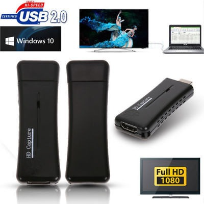 Portable USB 2.0 Port HD 1 Way HDMI 1080P Video Capture Card for Win 7 XP PC US