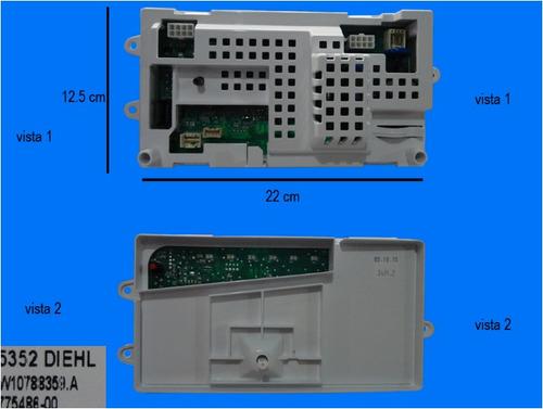 tarjeta de control de lavadora w10788359