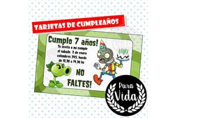 Tarjeta De Cumpleaños Plantsvszombies