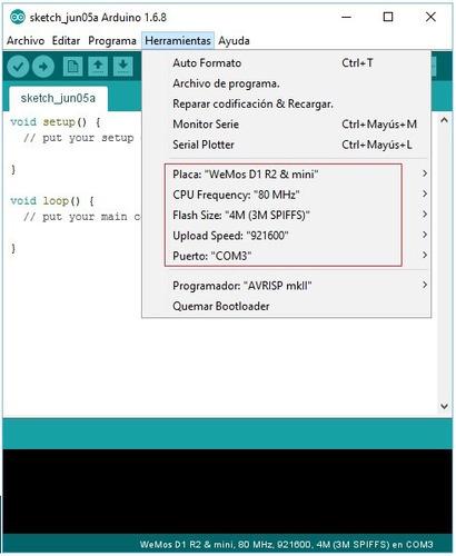 tarjeta de desarrollo inalambrica wemos wifi d1  esp8266