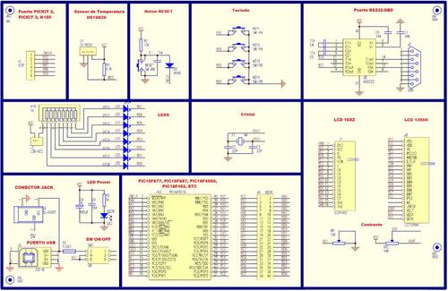 tarjeta de desarrollo pic dip40 pic16f887 bootloader tinypic