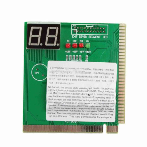 tarjeta de diagnostico post para escanear tu pc y 2 digitos