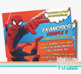 Tarjeta De Hombre Araña Invitación Spiderman Imprimible