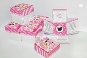 Tarjeta De Invitacion Cajita Minnie Mouse Baby