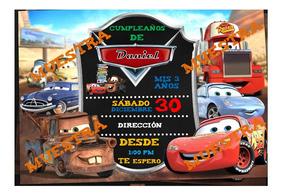 Tarjeta De Invitacion Cars Pizarron