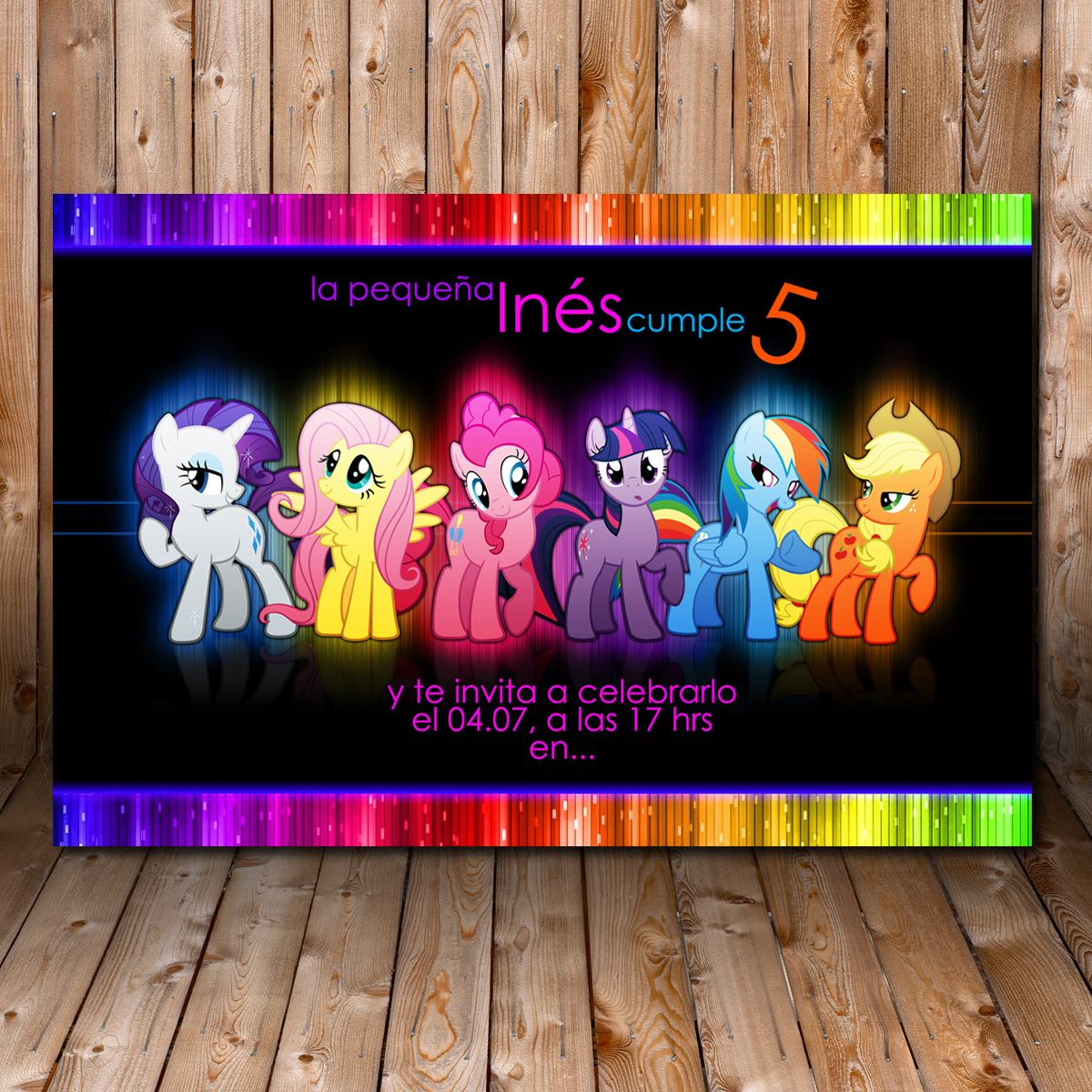 Tarjeta De Invitacion Cumpleaños Imprimible My Little Pony