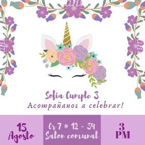 Tarjeta De Invitación Digital Cumpleaños Bautizo Y Otro