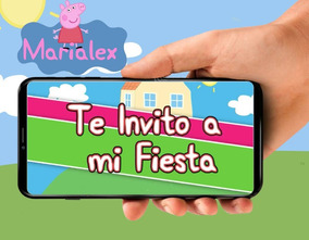 Tarjeta De Invitacion Digital De Video De Peppa Pig