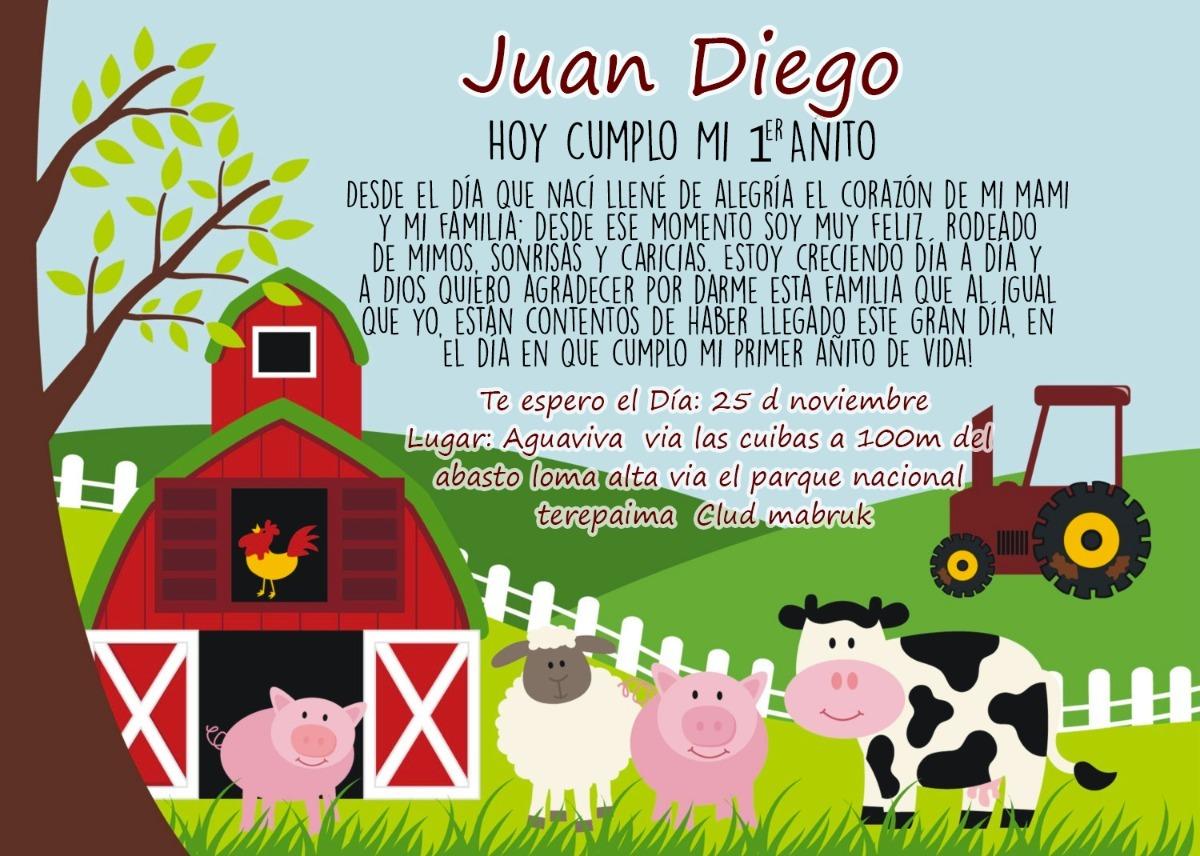 Tarjeta De Invitacion Digital La Granja