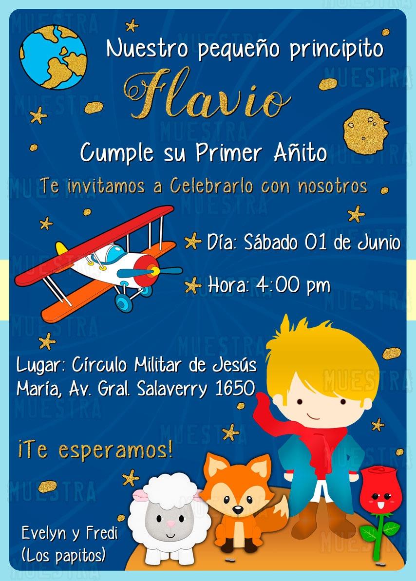 Tarjeta De Invitación Digital Para Cumpleaños Príncipes