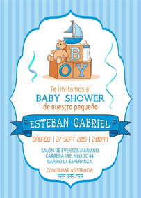 Tarjeta De Invitación Digital Personalizada Baby Shower