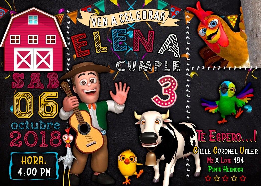 Tarjeta De Invitación Digital Personalizada Granja De Zenon