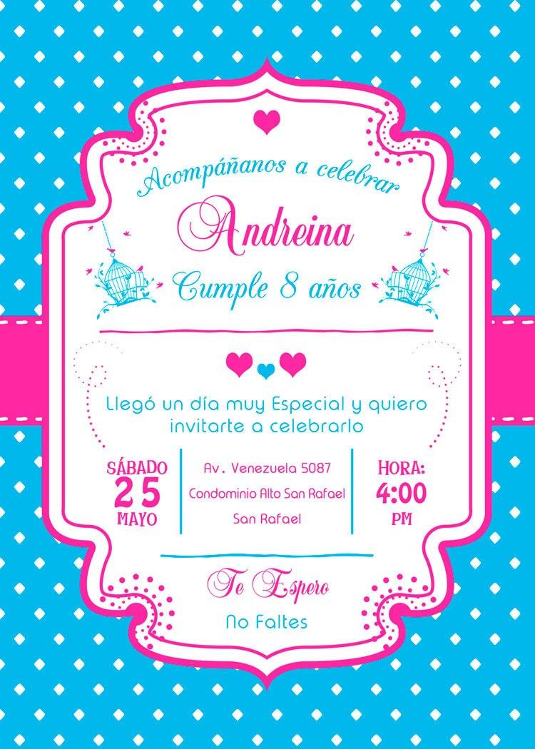 Tarjeta De Invitación Digital Personalizada Para Cumpleaños